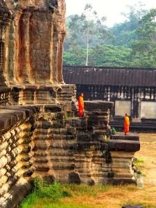Monks at sunrise