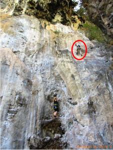Rachel's fearless climb